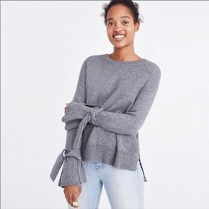 NWT Madewell crew neck tie cuff pullover sweater